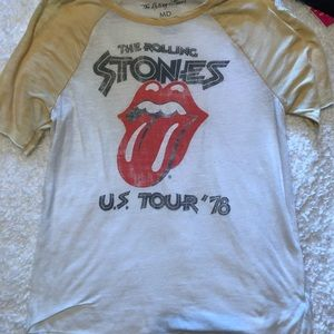 Tops - Rolling Stones graphic tee